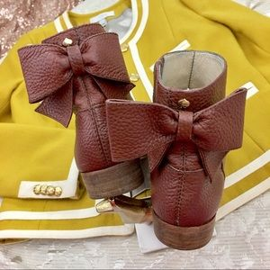 Kate Spade Bow Booties Size 7.5